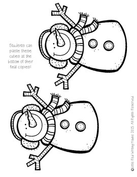 Snowman Imaginative Writing Prompt