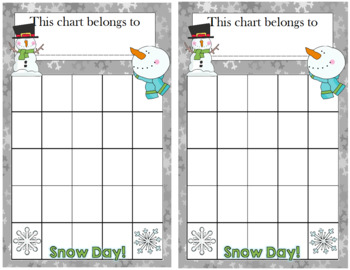 Snowman Incentive Chart