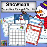 Snowman Incentive Reward Sticker Charts