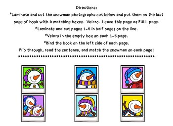 Snowman Inferencing/Describing Interactive Book