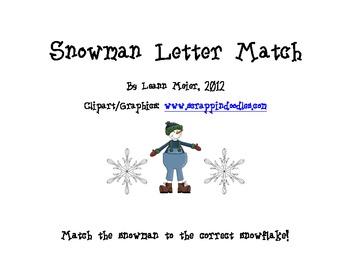 Snowman Initial Sound Match