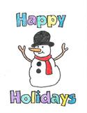 Snowman Integers Coloring Sheet
