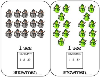 Snowman Interactive Book counting to 24