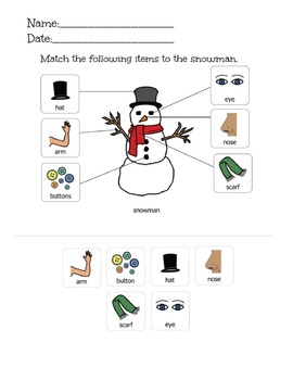 Snowman Activity-Matching Includes 3 Levels
