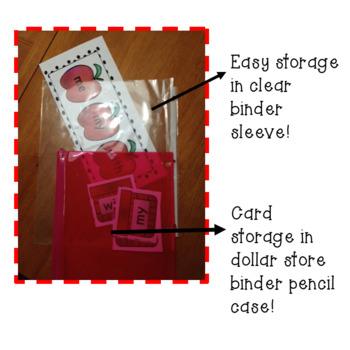 Snowman/Kindergarten sight Word Matching Center
