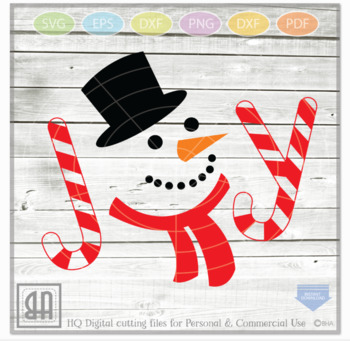 Snowman Joy SVG, Joy SVG, Snowman Svg, Christmas SVG, Winter clipart
