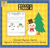 Snowman Kindergarten Math Extended Response FREEBIE