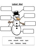 Snowman Label Me