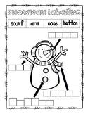 Snowman Labeling Freebie