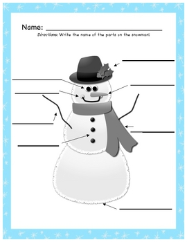 Snowman Labeling and Write the Room Center