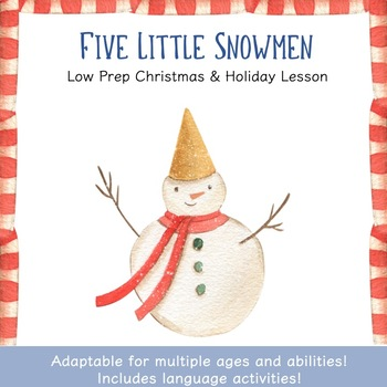 Snowman Language Bundle | Winter Speech and Language Activities