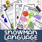 Winter No Prep Receptive and Expressive Language Worksheets and Homework