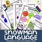 No Prep Receptive & Expressive Language Worksheets - Winte