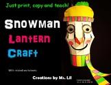 Snowman Craft :: Snow Activity :: Winter Craft