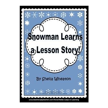 Snowman Learns a Lesson Story!