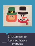 Snowman/Leprechaun Art Pattern