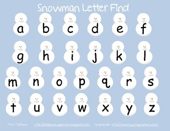 Snowman Letter Finds and Mix Ups