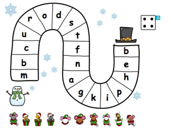 Snowman Letter Gameboard