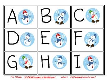 Snowman Letter Identification
