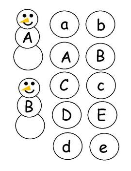 Snowman Letter Match