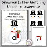 Snowman Letter Match Uppercase to Lowercase
