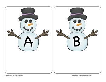 Snowman Letter Matching