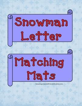 Snowman Letter Matching Mats