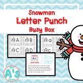 Snowman Letter Punch Busy Box
