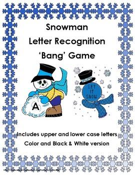 Snowman Letter Recognition 'Bang' Game