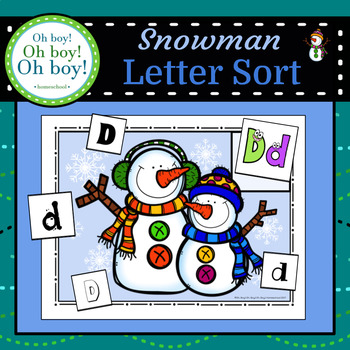 Snowman Letter Sort - S