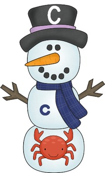 Snowman Letter, Sound, Picture Match