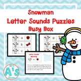 Snowman Letter Sounds Puzzles Busy Box