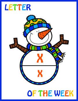 Snowman Letter of the Week Posters; Kindergarten; Preschool; Literacy; Letters