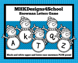 Snowman Letters Sound Recognition Activity