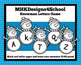 Snowman Letters Sound Recognition Activity
