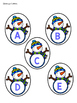 Snowman Letters (idenitify letters and letter sounds)