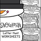 Snowman Letters of the Alphabet Worksheets