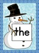 Snowman List 1 From  Fry First 100 Sight Word Posters and