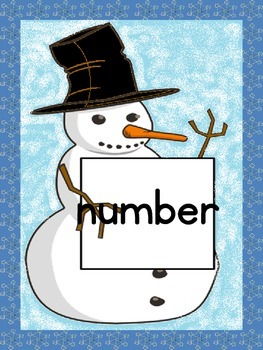Snowman List 4 From  Fry First 100 Sight Word Posters and Flashcards