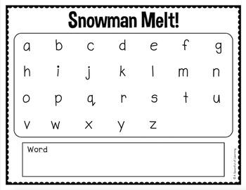 Snowman Literacy Activities!