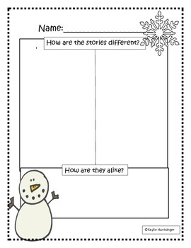 Snowman Literacy Pack