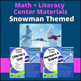 Snowman Literacy and Math Resources (BUNDLE)
