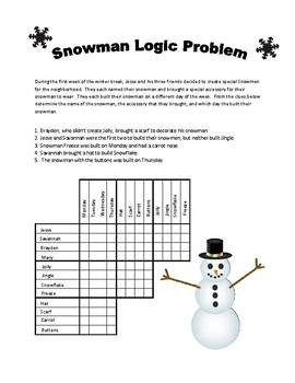 Snowman Logic Problem