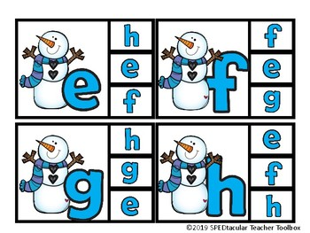 Snowman Lowercase Clip Cards