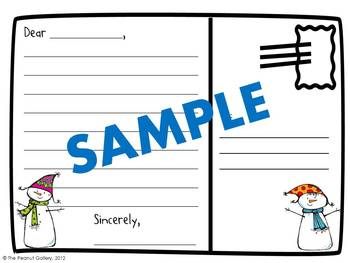 Snowman Mail (Writing Point of View Postcards)