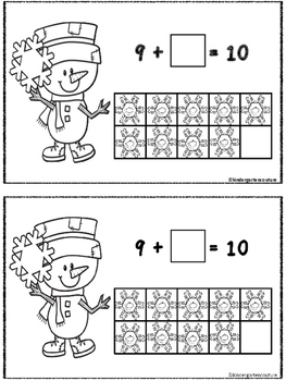 Snowman Make 10 Booklet