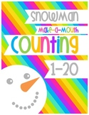 Snowman Make-A-Mouth Candy Counting: 1-20