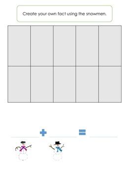 Snowman Making Ten Center-Math Fact Strategies