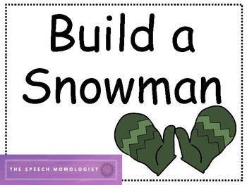 Build a Snowman: Speech Therapy Game