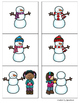 Snowman Match-Up Describing Activity